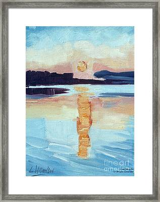 Sunset On Vancouver Island Framed Print