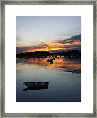 Sunset On Vinalhaven Maine Framed Print