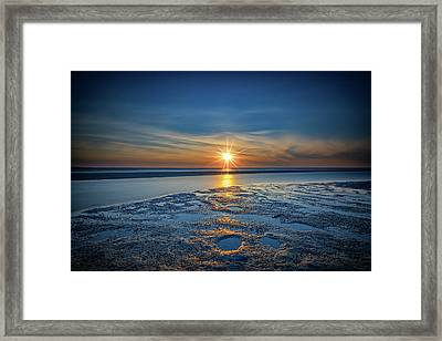 Sunset On West Meadow Beach Framed Print