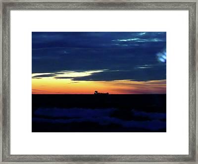 Sunset On Winter Solstice Eve Framed Print