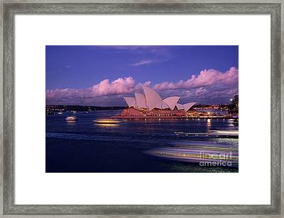 Sunset Opera By Kaye Menner Framed Print by Kaye Menner