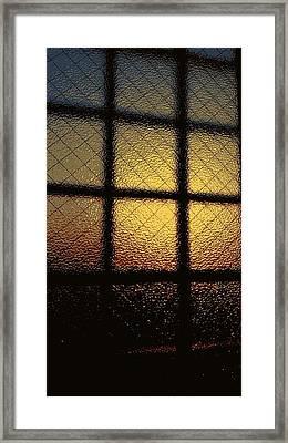Sunset Orange Framed Print