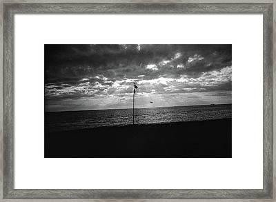 Sunset Ostia Beach Framed Print