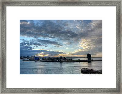 Sunset Over Aberdeen Framed Print