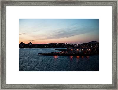 Sunset Over Alaska Framed Print