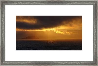 Sunset Over Alcatraz Framed Print