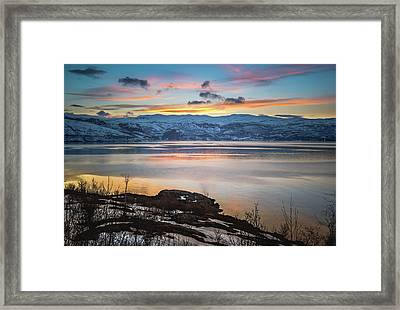 Sunset Over Altafjord Norway Framed Print