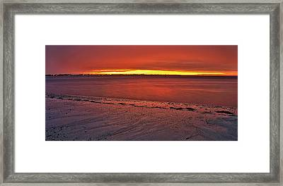 Sunset Over Anna Maria Island Framed Print by Jim Dohms