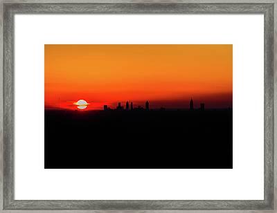 Sunset Over Atlanta Framed Print