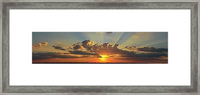 Sunset Over Austin Framed Print