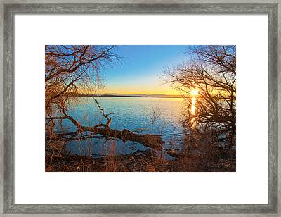 Sunset Over Barr Lake Framed Print
