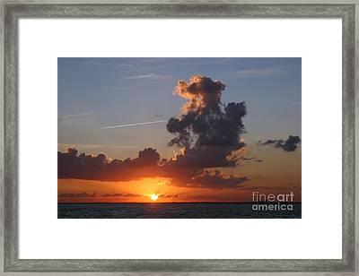 Sunset Over Biscayne Bay Framed Print by Matt Tilghman
