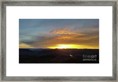 Sunset Over Black Canyon And River #1 Framed Print