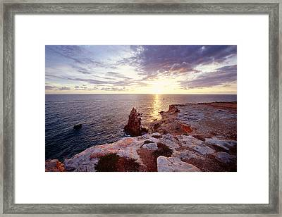 Sunset Over Cabo Rojo Puerto Rico Framed Print by George Oze
