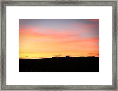 Sunset Over Cairnpapple Framed Print