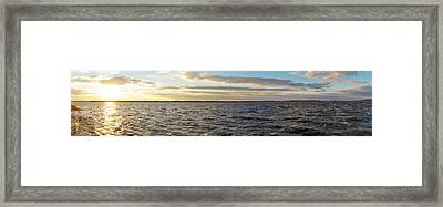 Framed Print featuring the photograph Sunset Over Cape Fear River by Willard Killough III