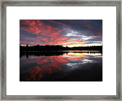 Sunset Over Caswell Lake Framed Print