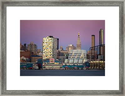 Framed Print featuring the photograph Sunset Over Chelsea by Eduard Moldoveanu