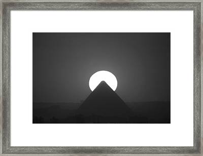 Framed Print featuring the photograph Sunset Over Cheops by Donna Corless