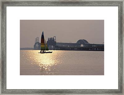 Sunset Over Chesapeake Framed Print by Stephen St. John