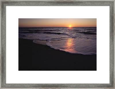 Sunset Over Chincoteague, Virginia Framed Print