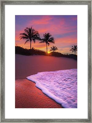 Sunset Over Coral Cove Park In Jupiter, Florida Framed Print