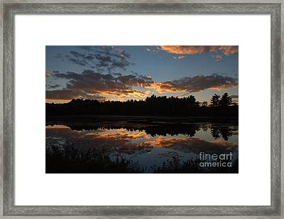 Sunset Over Cranberry Bogs Framed Print