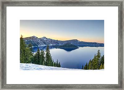 Sunset Over Crater Lake Framed Print