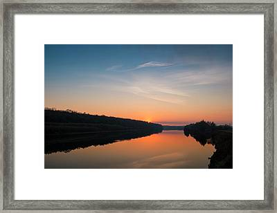 Sunset Over Desna River. Horytsya, 2014. Framed Print