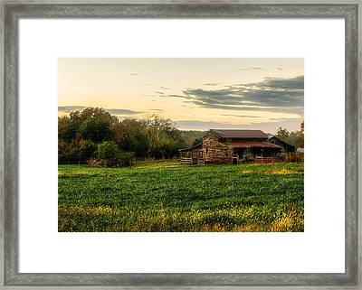 Sunset Over Dogwood Ridge Framed Print
