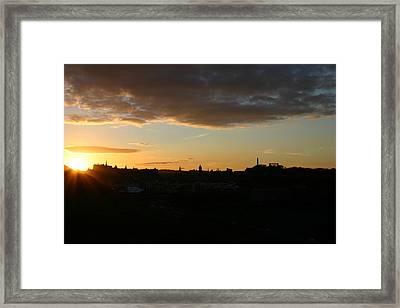 Sunset Over Edinburgh Framed Print by Fraser McCulloch
