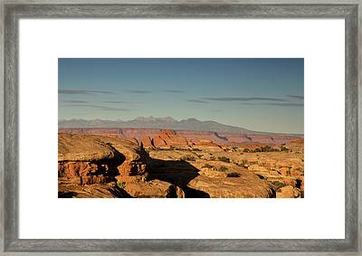 Sunset Over Elephant Canyon Framed Print by Kunal Mehra