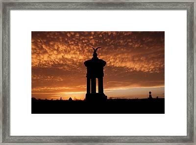 Sunset Over Excelsior Field Framed Print by Kat Zalewski-Bednarek