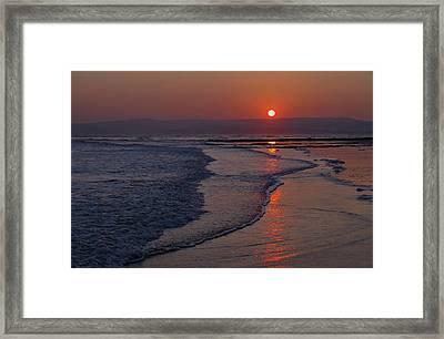 Sunset Over Exmouth Beach Framed Print
