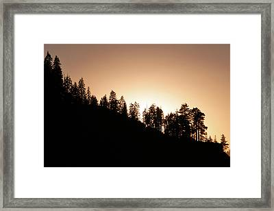 Sunset Over Glacier Point Framed Print