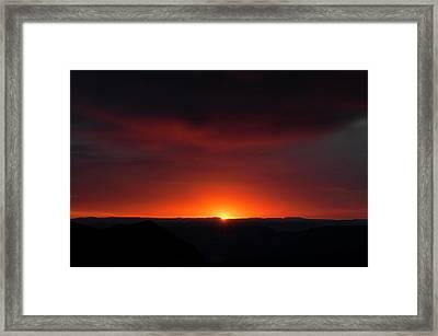 Sunset Over Grand Canyon Framed Print