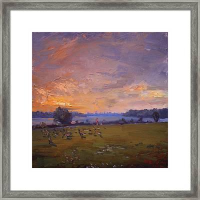 Sunset Over Gratwick Park Framed Print
