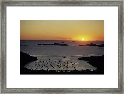 Sunset Over Great Cruz Bay Framed Print by Don Kreuter