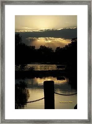 Sunset Over Henderson Framed Print by Tom Buchanan