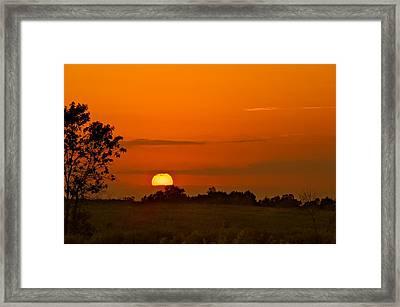 Sunset Over Horicon Marsh Framed Print by Steve Gadomski