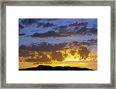 Sunset Over Horsetooth Rock Framed Print