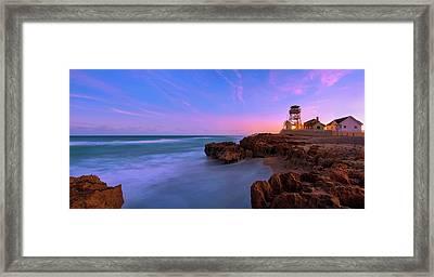Sunset Over House Of Refuge Beach On Hutchinson Island Florida Framed Print