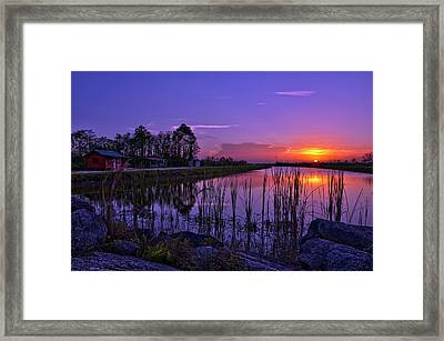 Sunset Over Hungryland Wildlife Management Area Framed Print
