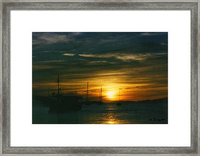 Framed Print featuring the photograph Sunset Over Isla Margarita by Maciek Froncisz