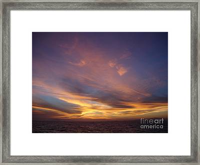 Sunset Over Island Framed Print by Chad Natti