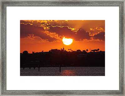 Framed Print featuring the photograph Sunset Over Jensen by Don Youngclaus