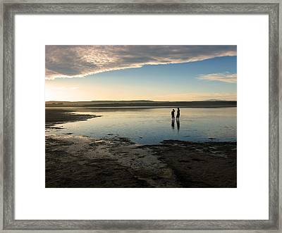 Framed Print featuring the photograph Sunset Over Kabeljauws by Riana Van Staden