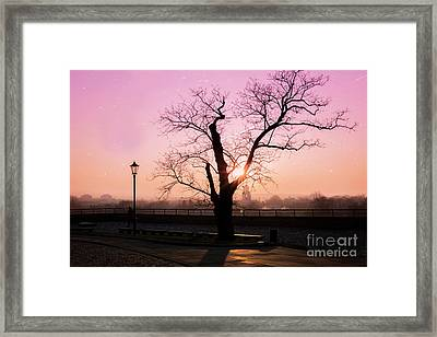 Sunset Over Krakow Framed Print by Juli Scalzi