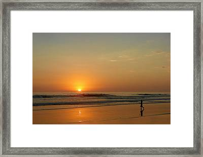 Sunset Over La Jolla Shores Framed Print by Christine Till