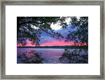 Sunset Over Lake Cherokee Framed Print